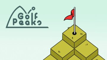 Jeu Golf Peaks sur Nintendo Switch : artwork du jeu