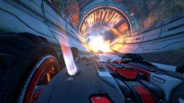 Jeu Grip Combat Racing sur Nintendo Switch : prise de vue en pleine action