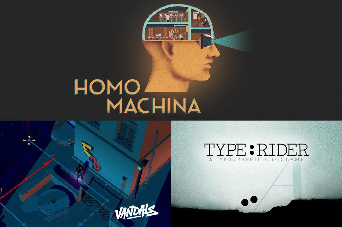Jeu Homo Machina, Vandals et Type:Rider sur Nintendo Switch : ils sortiront tous les trois le 25 avril 2019