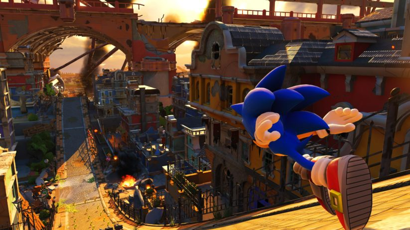 Image du jeu Sonic Forces sur Nintendo Switch : ville
