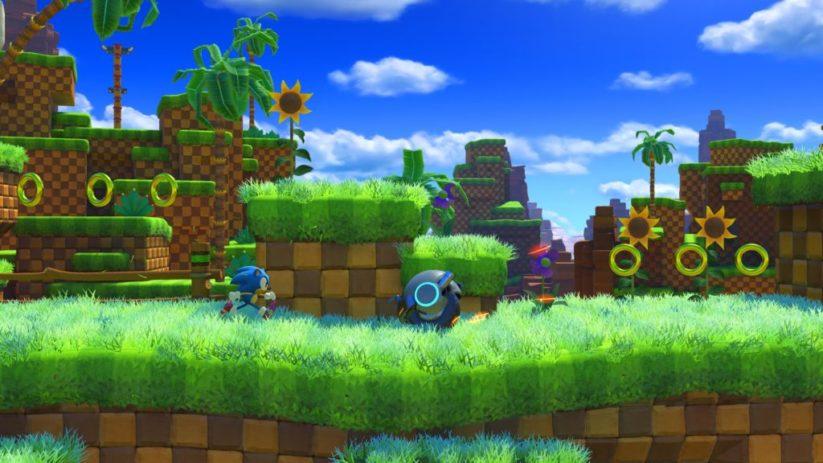 Image du jeu Sonic Forces sur Nintendo Switch : aperçu de Green Hill Zone