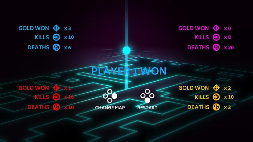 Jeu Invisiballs sur Nintendo Switch : tableau de score