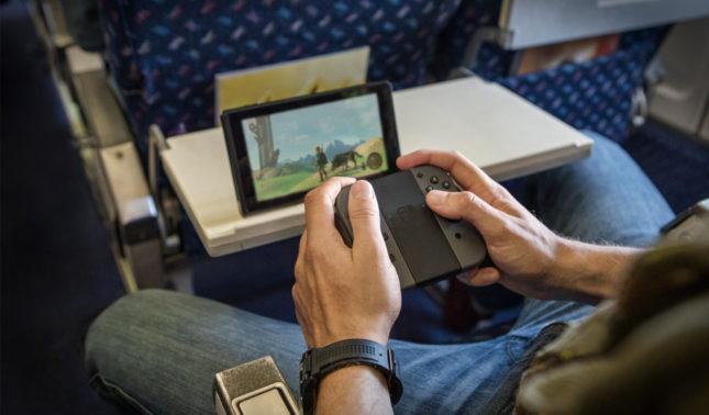 Jouer à Zelda Breath of the Wild dans le train en mode tablette