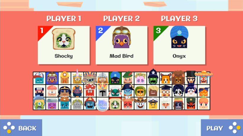 Jeu Jumping Joe & Friends sur Nintendo Switch : aperçu des personnages