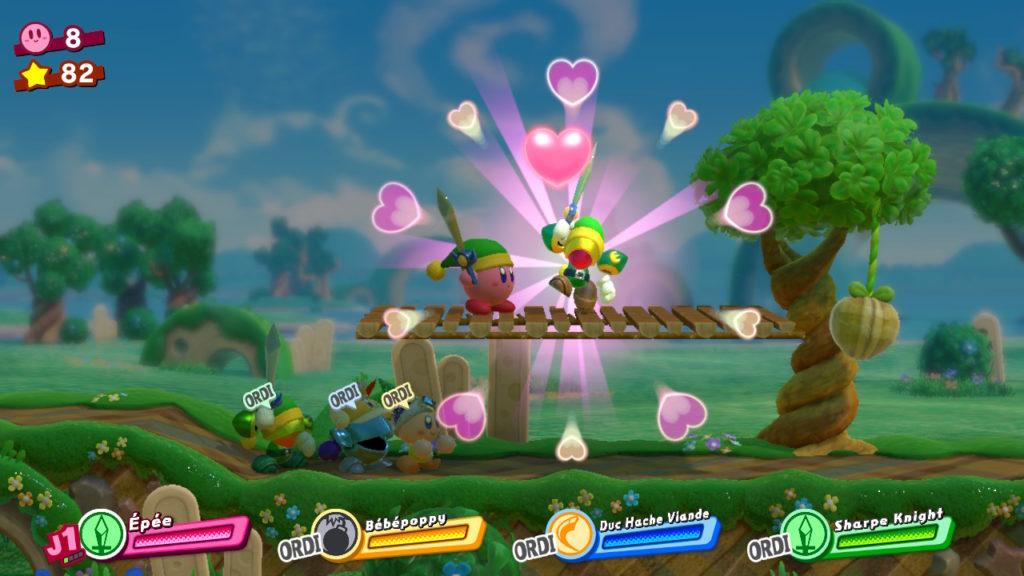 Jeu Kirby Star Allies sur Nintendo Switch : création d'un allié