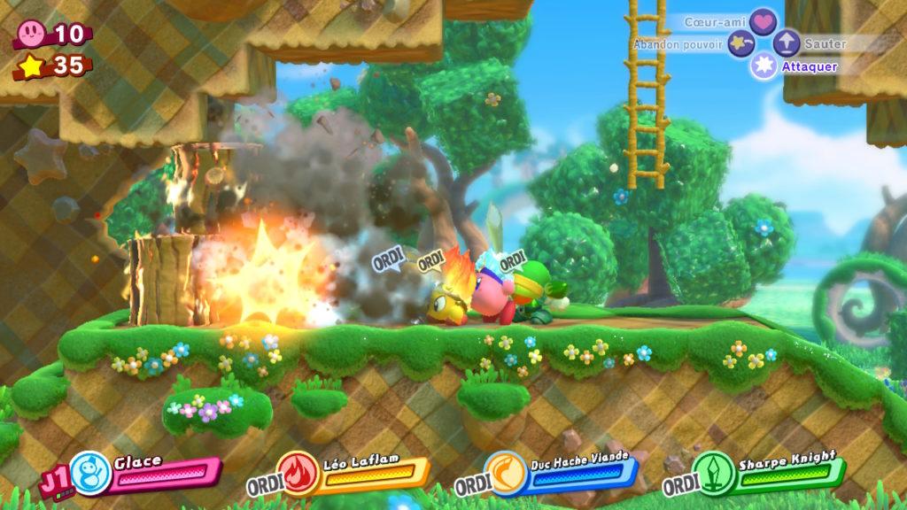 Jeu Kirby Star Allies sur Nintendo Switch : pouvoir explosif