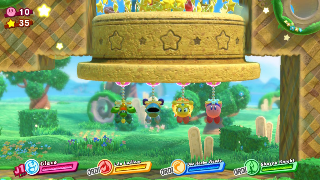 Jeu Kirby Star Allies sur Nintendo Switch : quatre héros coopératifs
