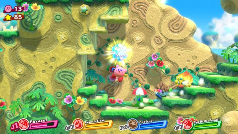 Jeu Kirby Star Allies sur Nintendo Switch : pièce de puzzle spéciale