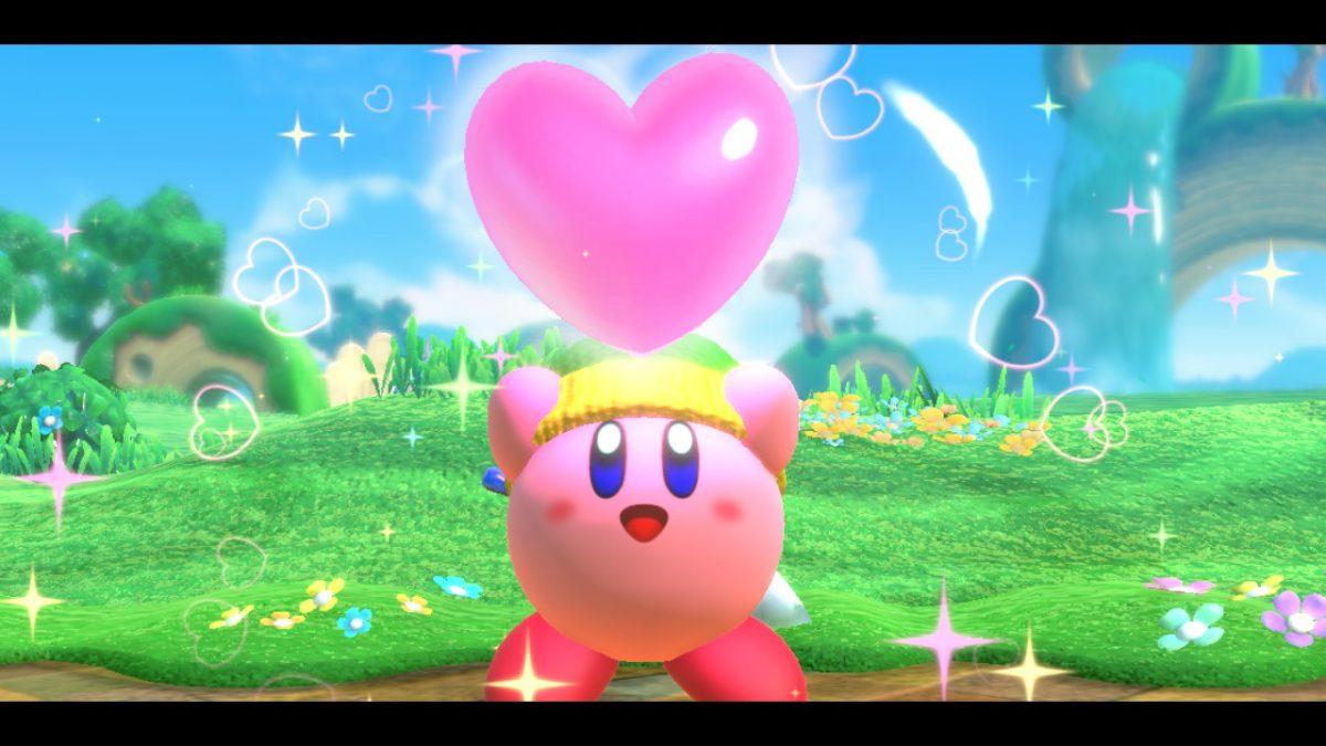 Jeu Kirby Star Allies sur Nintendo Switch : création d'un coeur ami