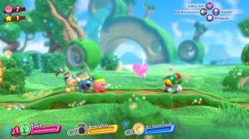 Jeu Kirby Star Allies sur Nintendo Switch : équipe et coeur ami