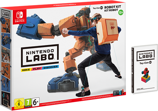 Image du packaging du Kit Robot de Nintendo Labo