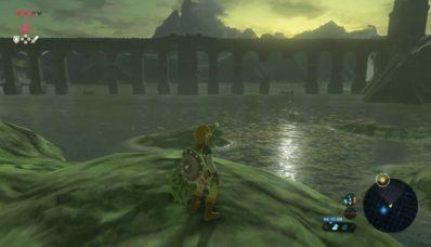 Link devant le lac Hylia