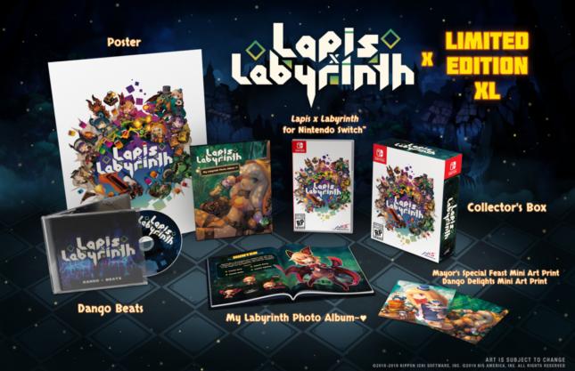 Jeu Lapis x Labyrinth sur Nintendo Switch : édition limitée XL
