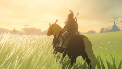 Panorama à cheval dans The Legend of Zelda Breath of The Wild