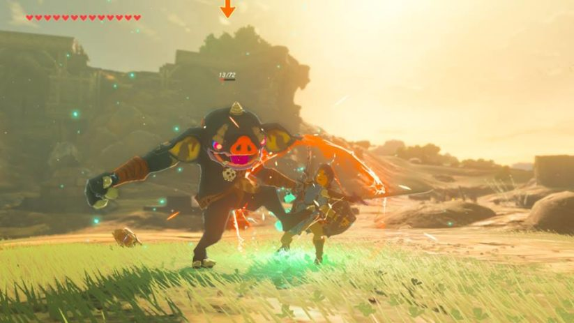 The Legend of Zelda Breath of The Wild : combat contre un Bokoblin