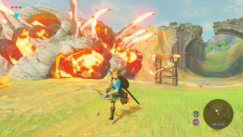 The Legend of Zelda Breath of The Wild : explosions