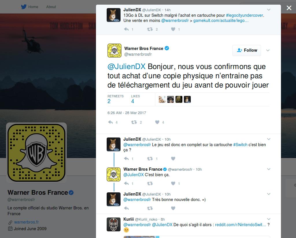 Confirmation officielle de Warner Bros France : pas d'obligation de téléchargement pour jouer à LEGO City Undercover