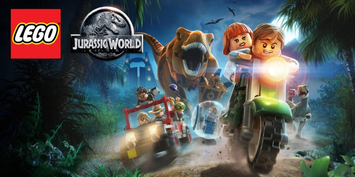 Jeu Lego Jurassic World sur Nintendo Switch : artwork du jeu