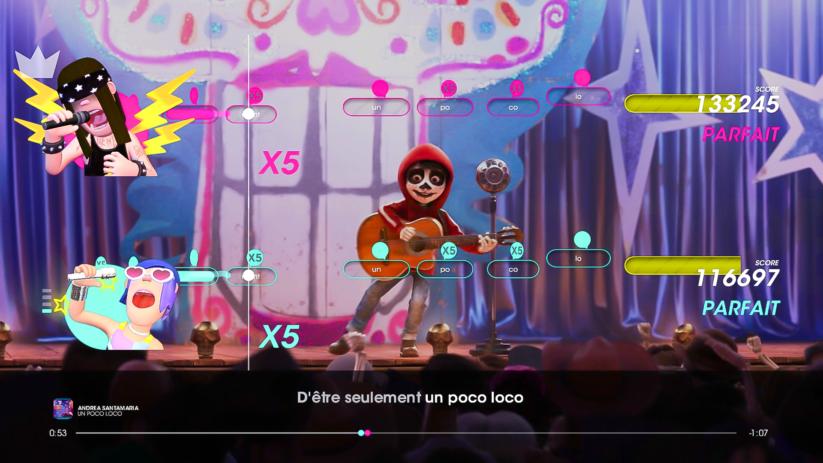 Jeu Let's Sing 2019 sur Nintendo Switch : Un Poco Loco