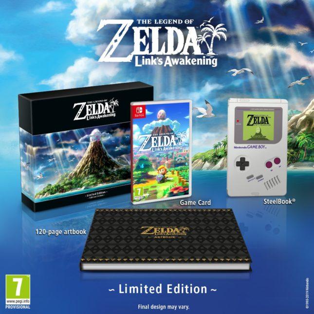 Jeu The Legend of Zelda : Link's Awakening sur Nintendo Switch : présentation de l'édition limitée du jeu