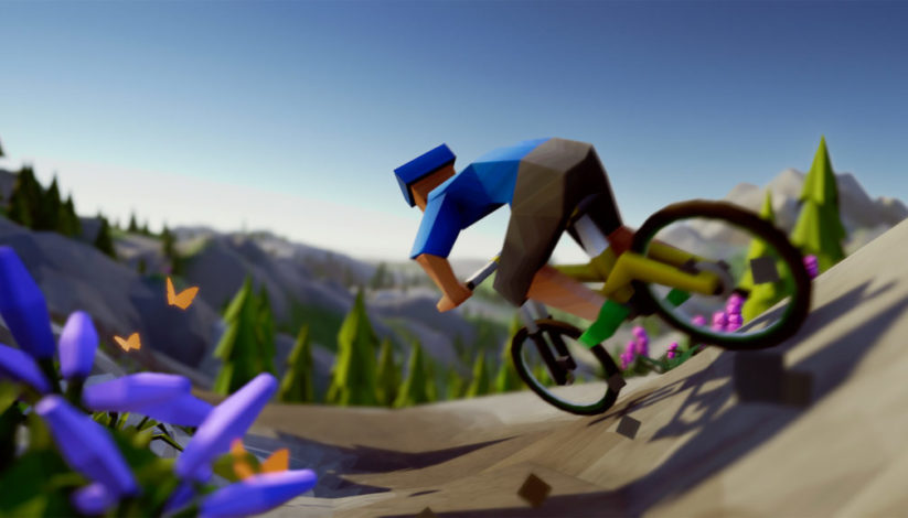 Jeu Lonely Mountains : Downhill sur Nintendo Switch : artwork du jeu