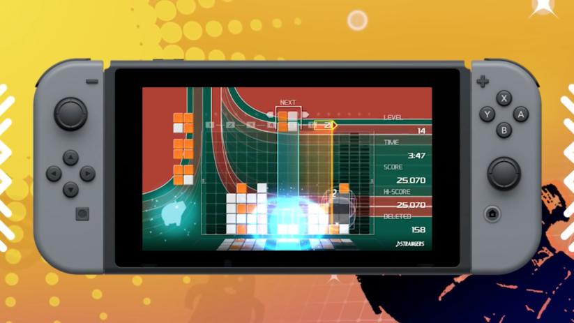 Jeu Lumines Remastered sur Nintendo Switch : jeu solo