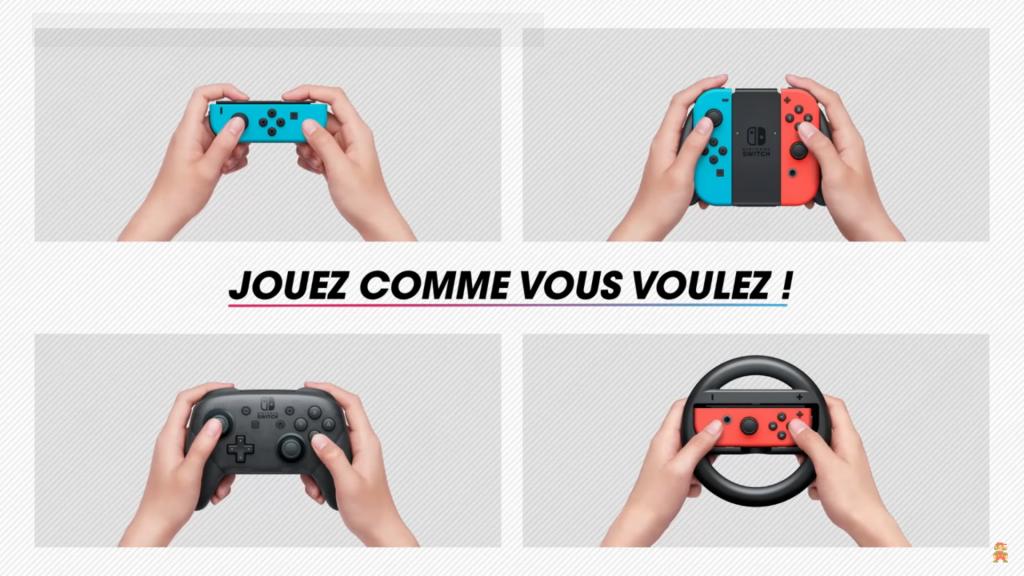 Mario Kart 8 Deluxe : Joy-Con, volant ou manette Switch pro