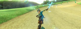 Jeu Mario Kart 8 Deluxe sur Nintendo Switch : Link se pare de ses vêtement Breath of the Wild