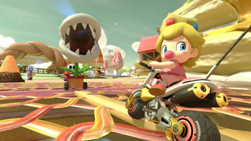 Mario Kart 8 Deluxe sur Nintendo Switch : traque sur la piste avec les plantes piranhas