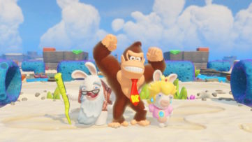 Jeu Mario + The Lapins Crétins : Kingdom Battle sur Nintendo Switch : DLC Donkey Kong Adventure : la nouvelle équipe