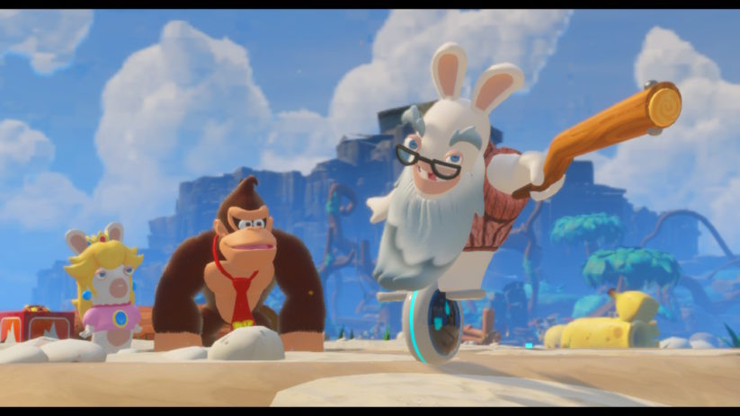 Jeu Mario + The Lapins Crétins : Kingdom Battle sur Nintendo Switch : DLC Donkey Kong Adventure : Lapin Cranky en avant !