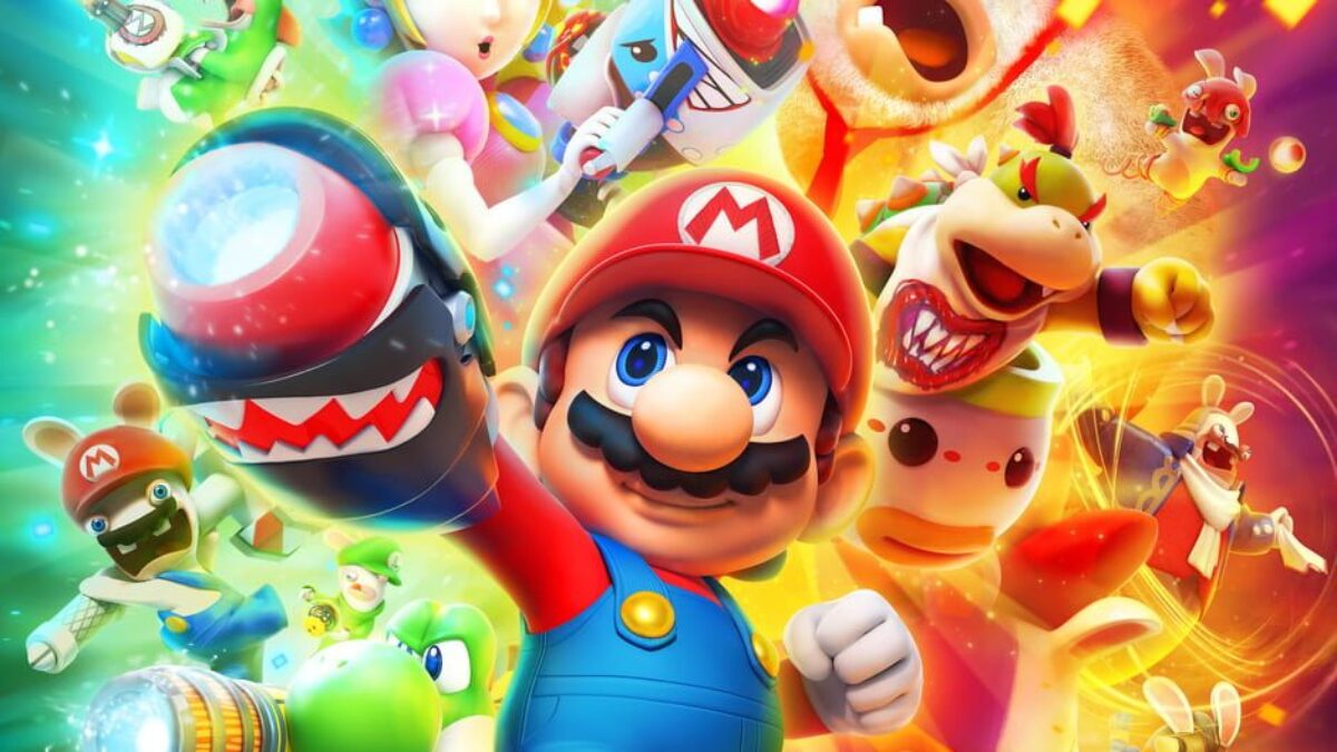 Jeu Mario + The Lapins Crétins : Kingdom Battle sur Nintendo Switch : artwork du jeu