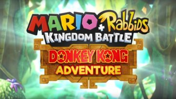 Jeu Mario + The Lapins Crétins : Kingdom Battle sur Nintendo Switch : Titre de la Donkey Kong Adventure
