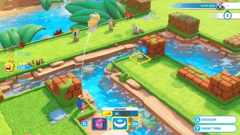 Jeu Mario + The Lapins Crétins : Kingdom Battle sur Nintendo Switch : les déplacements sont primordiaux