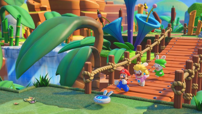 Jeu Mario + The Lapins Crétins : Kingdom Battle sur Nintendo Switch : la fine équipe part à l'aventure