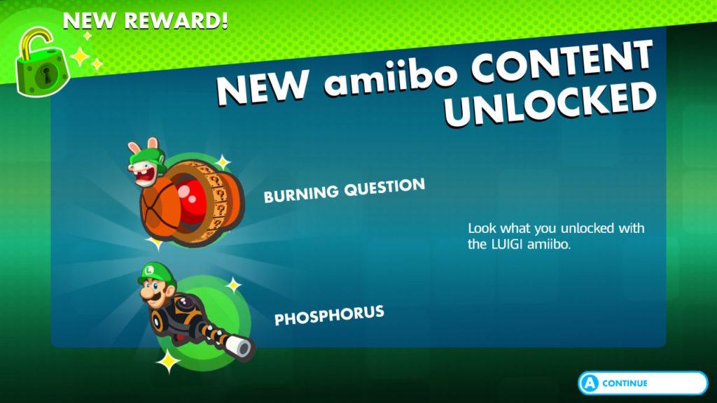 Mario + The Lapins Cretins Kingdom Battle Recompenses Amiibo Luigi