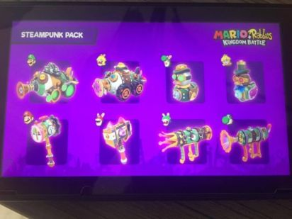 Contenu du pack Steampunk du Season Pass Mario + The Lapins Cretins Kingdom Battle