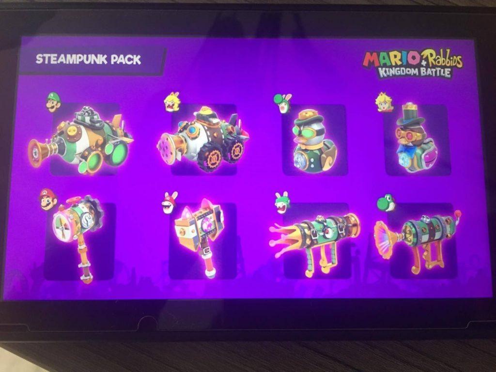 Contenu du pack Steampunk du Season Pass Mario + The Lapins Cretins Kingdom Battle