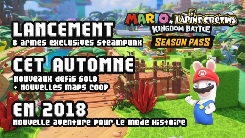 Mario + The Lapins Cretins Kingdom Battle : dates des packs du Season Pass
