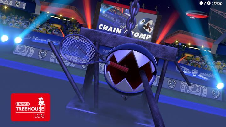 Jeu Mario Tennis Aces sur Nintendo Switch : Chomp est toutes dents dehors