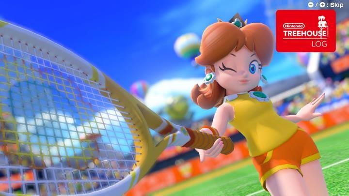 Jeu Mario Tennis Aces sur Nintendo Switch : Daisy nous fait un clin d'oeil