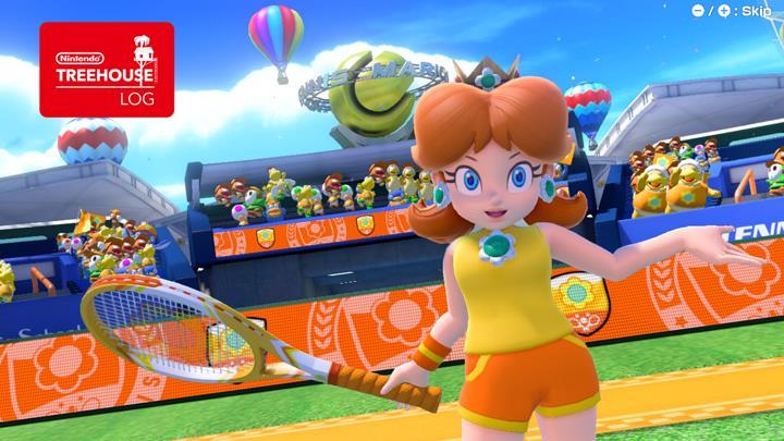 Jeu Mario Tennis Aces sur Nintendo Switch : Daisy fait sa timide