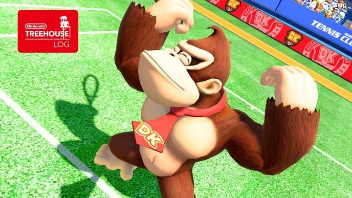 Jeu Mario Tennis Aces sur Nintendo Switch : Donkey Kong montre ses biscottos