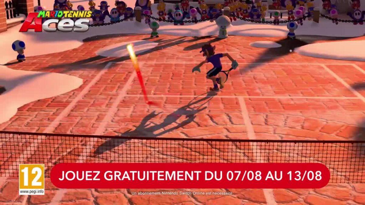 Jeu Mario Tennis Aces sur Nintendo Switch : le jeu est en essai gratuit du 07 au 13 août 2019