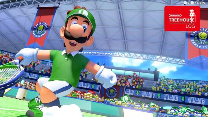 Jeu Mario Tennis Aces sur Nintendo Switch : Luigi en action