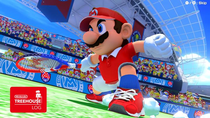 Jeu Mario Tennis Aces sur Nintendo Switch : Mario glisse vers la victoire