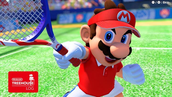 Jeu Mario Tennis Aces sur Nintendo Switch : Mario lève sa raquette