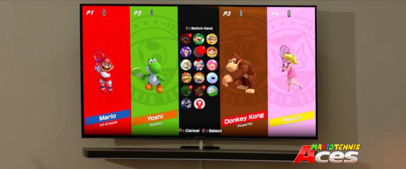 Jeu Mario Tennis Aces sur Nintendo Switch : premier aperçu des personnages jouables