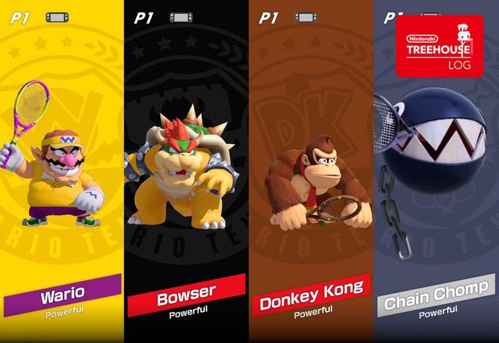 Jeu Mario Tennis Aces sur Nintendo Switch : personnages puissants