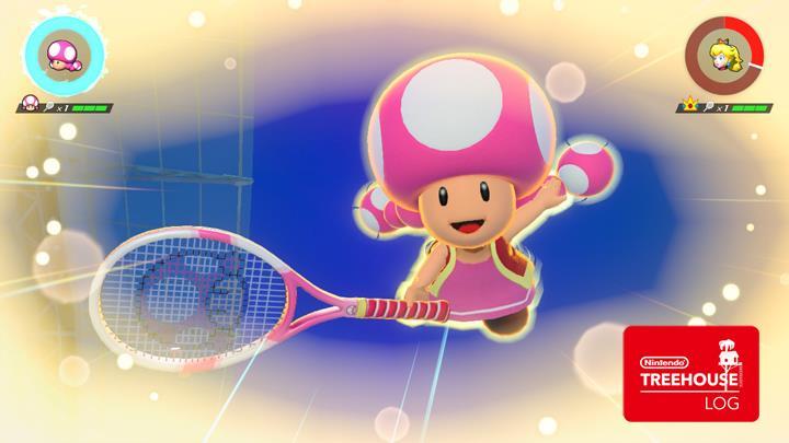 Jeu Mario Tennis Aces sur Nintendo Switch : coup spécial de Toadette